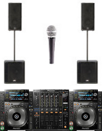Full Large DJ Package With Subwoofers